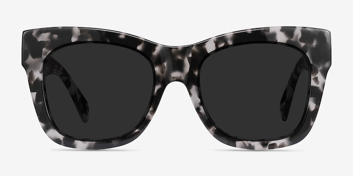 Calico Gray Floral Acetate Sunglass Frames from EyeBuyDirect, Front View