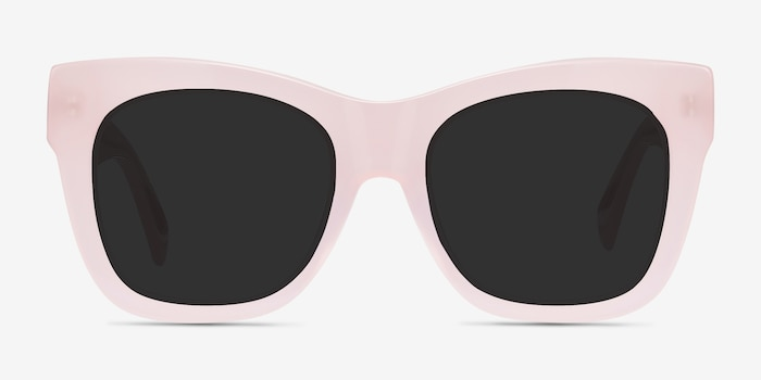 Calico Pink Acetate Sunglass Frames from EyeBuyDirect, Front View