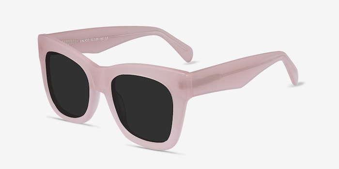 Calico Pink Acetate Sunglass Frames from EyeBuyDirect, Angle View