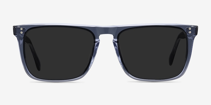 Cantina Blue Acetate Sunglass Frames from EyeBuyDirect, Front View
