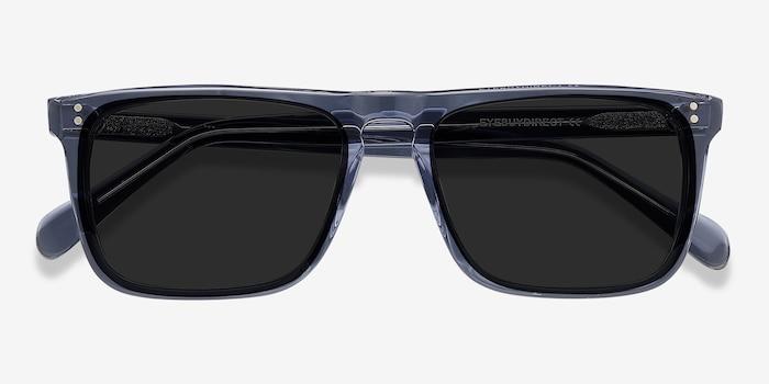 Cantina Bleu Acétate Soleil de Lunettes d'EyeBuyDirect, Vue Rapprochée