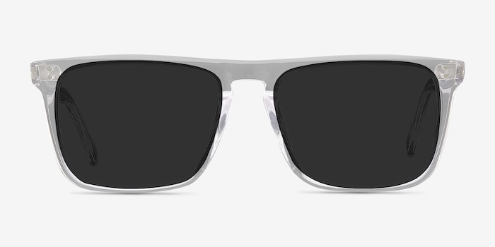 Cantina Clear Acetate Sunglass Frames from EyeBuyDirect, Front View