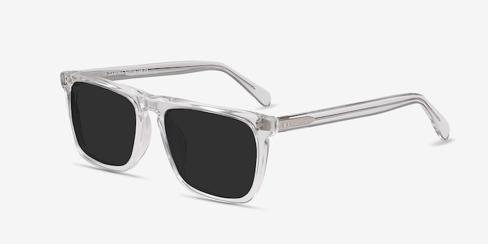 Cantina Clear Acetate Sunglass Frames from EyeBuyDirect, Angle View