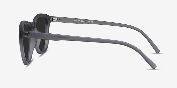 Hidden Gray Plastic Sunglass Frames from EyeBuyDirect, Side View