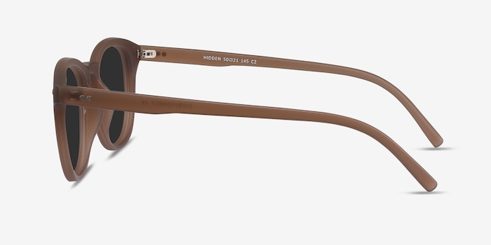 Hidden Brown Plastic Sunglass Frames from EyeBuyDirect, Side View