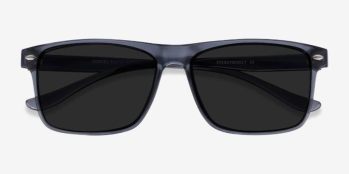 Cortez Gris Plastique Soleil de Lunettes d'EyeBuyDirect, Vue Rapprochée