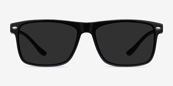 Cortez Black Plastic Sunglass Frames from EyeBuyDirect, Front View