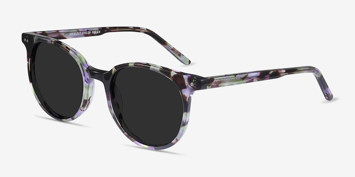 Hideout Purple Tortoise Acetate Sunglass Frames from EyeBuyDirect, Angle View