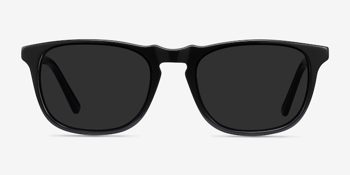 Wave Black Acetate Sunglass Frames from EyeBuyDirect, Front View
