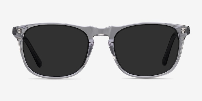 Wave Gray Acetate Sunglass Frames from EyeBuyDirect, Front View