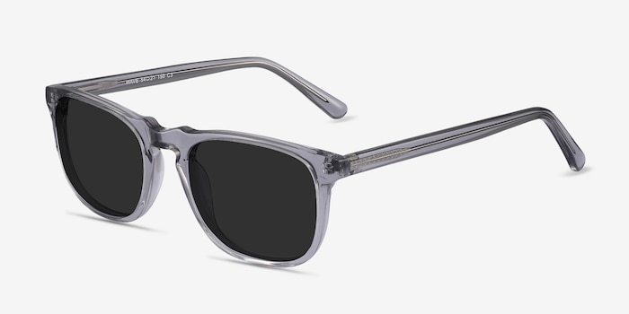 Wave Gray Acetate Sunglass Frames from EyeBuyDirect, Angle View