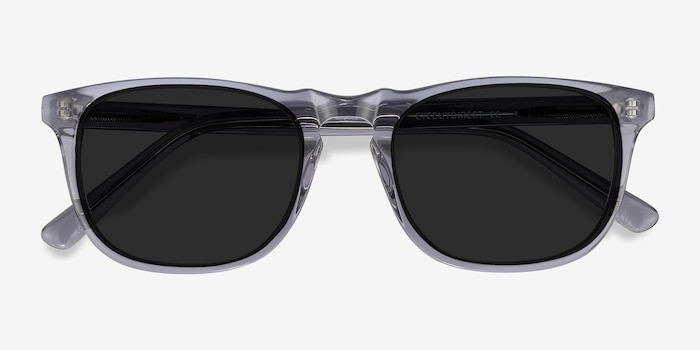 Wave Gray Acetate Sunglass Frames from EyeBuyDirect, Closed View