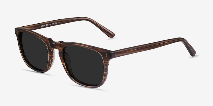 Wave Striped Acetate Sunglass Frames from EyeBuyDirect, Angle View