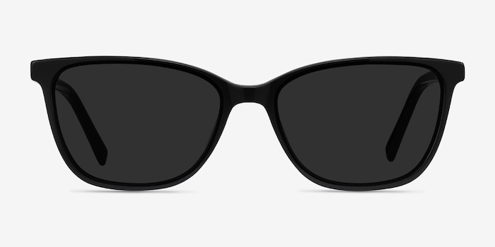 Halle Black Acetate Sunglass Frames from EyeBuyDirect, Front View