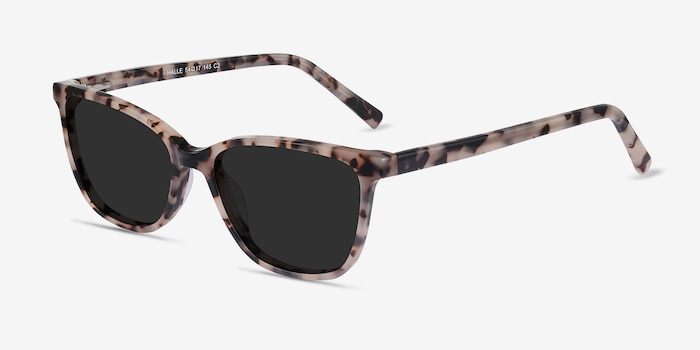 Halle Tortoise Acetate Sunglass Frames from EyeBuyDirect, Angle View