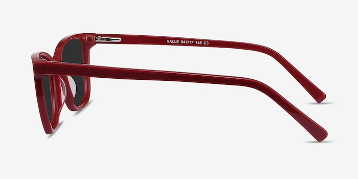 Halle Red Acetate Sunglass Frames from EyeBuyDirect, Side View