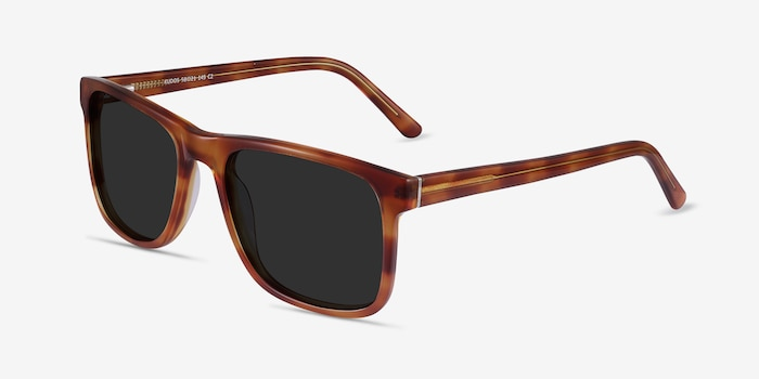 Kudos Brown Acetate Sunglass Frames from EyeBuyDirect, Angle View