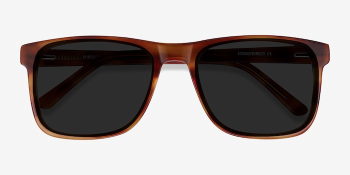 Kudos Brown Acetate Sunglass Frames from EyeBuyDirect, Closed View