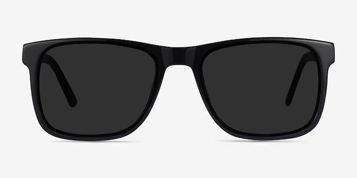 Kudos Black Acetate Sunglass Frames from EyeBuyDirect, Front View
