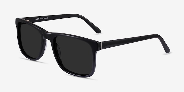 Kudos Black Acetate Sunglass Frames from EyeBuyDirect, Angle View