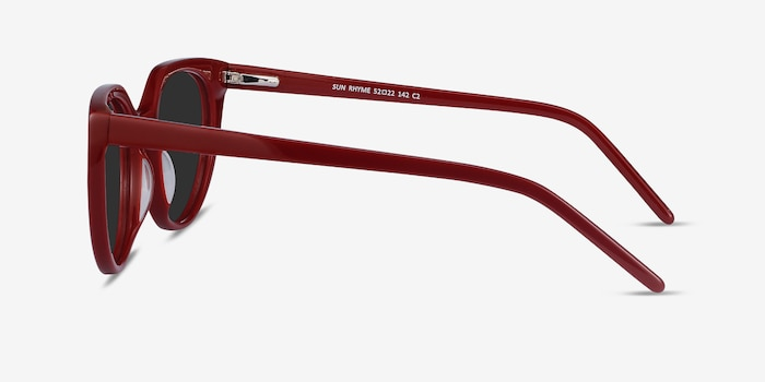 Sun Rhyme Burgundy Acetate Sunglass Frames from EyeBuyDirect, Side View