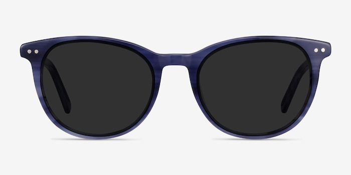 Rhythm Blue Acetate Sunglass Frames from EyeBuyDirect, Front View