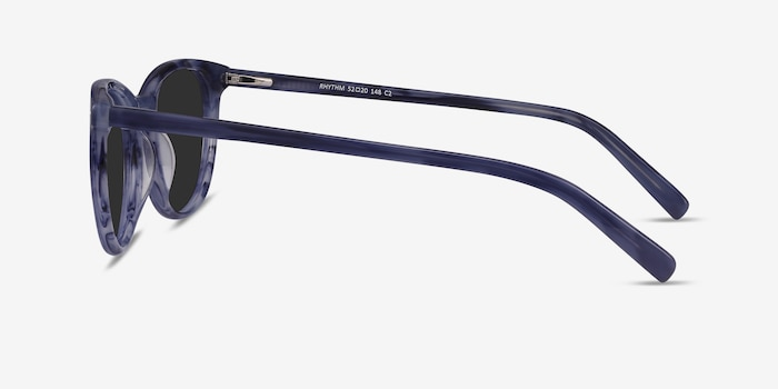 Rhythm Blue Acetate Sunglass Frames from EyeBuyDirect, Side View