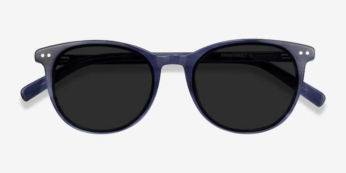 Rhythm Blue Acetate Sunglass Frames from EyeBuyDirect, Closed View
