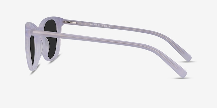 Rhythm Purple Striped Acetate Sunglass Frames from EyeBuyDirect, Side View