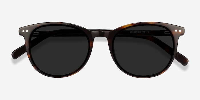 Rhythm Tortoise Acetate Sunglass Frames from EyeBuyDirect, Closed View