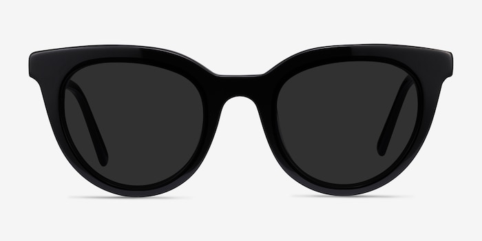 Cherish Black Acetate Sunglass Frames from EyeBuyDirect, Front View