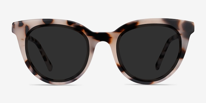Cherish Ivory Tortoise Acetate Sunglass Frames from EyeBuyDirect, Front View