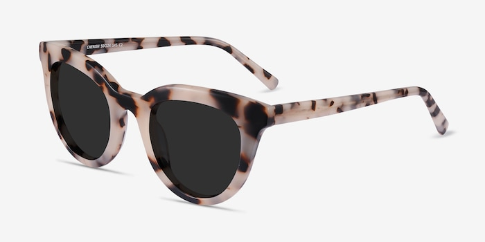 Cherish Ivory Tortoise Acetate Sunglass Frames from EyeBuyDirect, Angle View