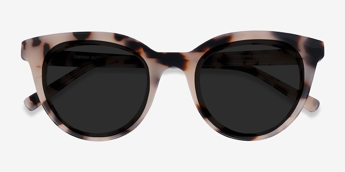 Cherish Ivory Tortoise Acetate Sunglass Frames from EyeBuyDirect, Closed View