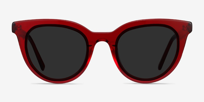 Cherish Red Acetate Sunglass Frames from EyeBuyDirect, Front View