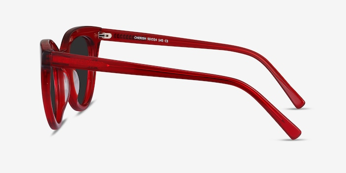 Cherish Red Acetate Sunglass Frames from EyeBuyDirect, Side View