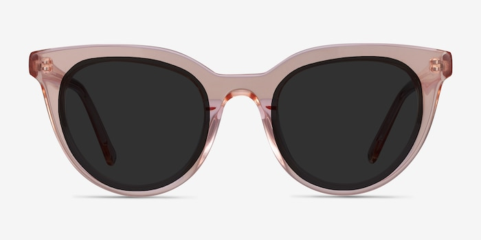 Cherish Champagne Acetate Sunglass Frames from EyeBuyDirect, Front View