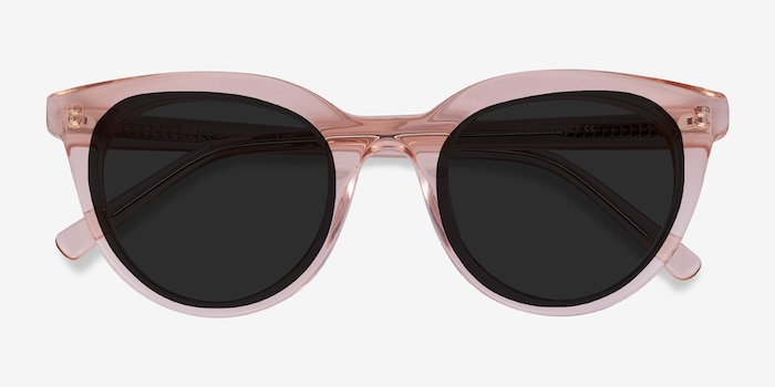 Cherish Champagne Acetate Sunglass Frames from EyeBuyDirect, Closed View