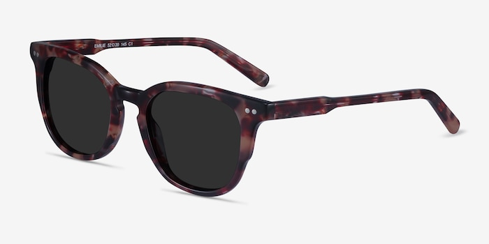 Emilie Floral Acetate Sunglass Frames from EyeBuyDirect, Angle View