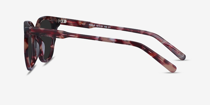 Emilie Floral Acetate Sunglass Frames from EyeBuyDirect, Side View