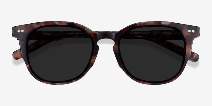 Emilie Floral Acetate Sunglass Frames from EyeBuyDirect, Closed View