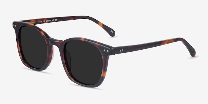 Soleil Tortoise Acetate Sunglass Frames from EyeBuyDirect, Angle View