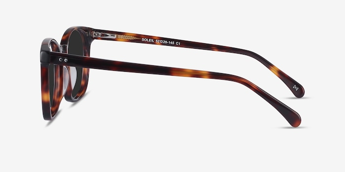 Soleil Tortoise Acetate Sunglass Frames from EyeBuyDirect, Side View