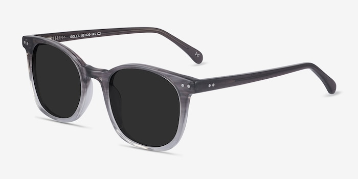 Soleil Striped Acetate Sunglass Frames from EyeBuyDirect, Angle View