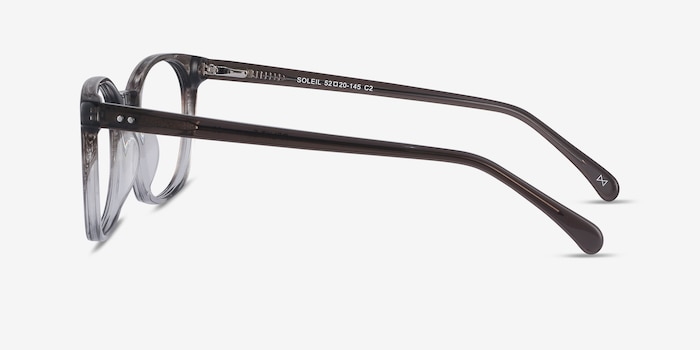 Soleil Striped Acetate Sunglass Frames from EyeBuyDirect, Side View