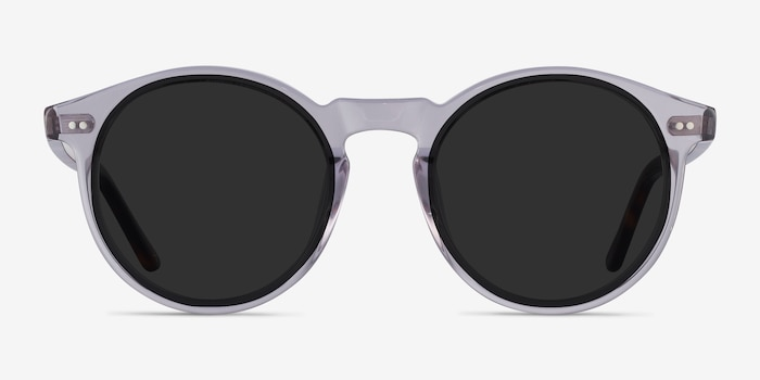 Luminance Gray Acetate Sunglass Frames from EyeBuyDirect, Front View
