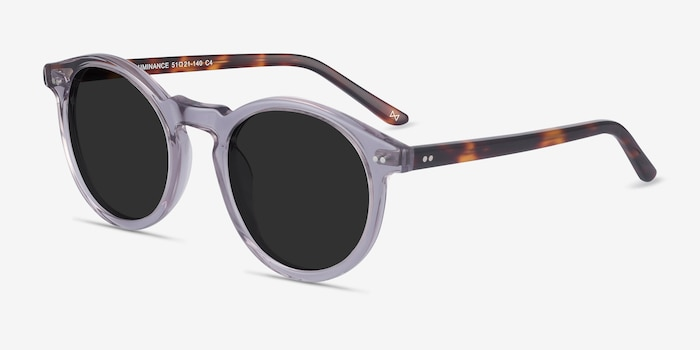 Luminance Gray Acetate Sunglass Frames from EyeBuyDirect, Angle View