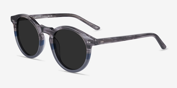 Luminance Striped Acetate Sunglass Frames from EyeBuyDirect, Angle View