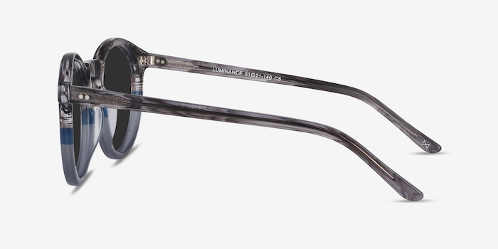 Luminance Striped Acetate Sunglass Frames from EyeBuyDirect, Side View