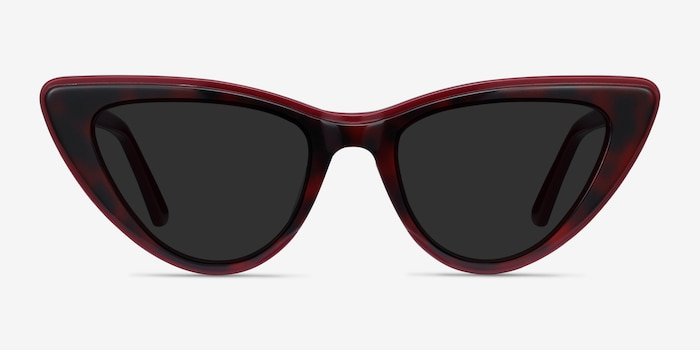 Secret Burgundy Tortoise Acetate Sunglass Frames from EyeBuyDirect, Front View